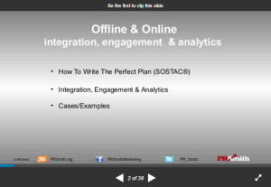 SOSTAC(r) Planning - offline & online -integration, innovation & engagement