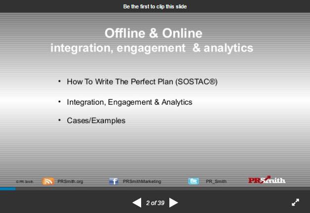 SOSTAC ® Planning – integration, engagement & analytics