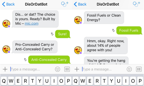 Bots didordat helps customers make decisions
